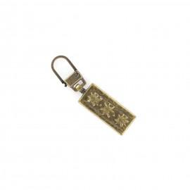 Zipper pull Sunny - antique gold
