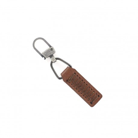Zipper pull Denny - brown