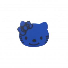 Bouton Hello Kitty bleu roy