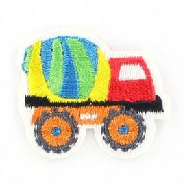 Truck iron-on applique - multicolored