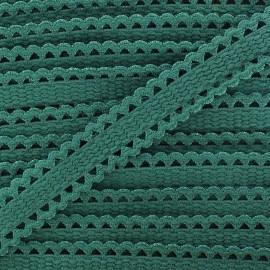 Ruban élastique dentelle vert