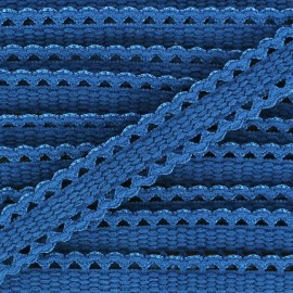 Ruban élastique dentelle bleu