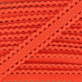 Ruban élastique dentelle orange