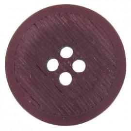 Bouton polyester rond strié Violet