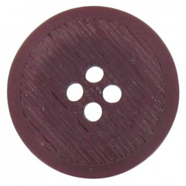 Polyester button, rounded-shaped, stripped - purple