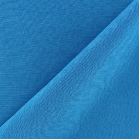 Tissu voile de coton turquoise