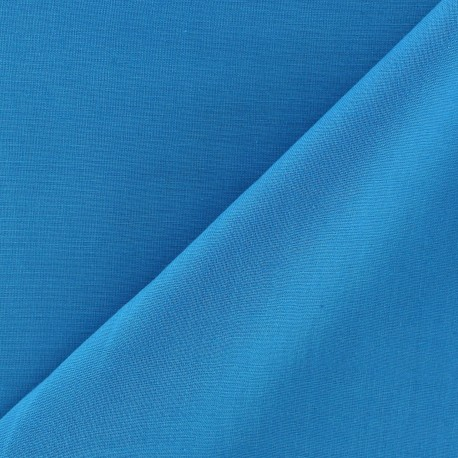 Tissu voile de coton turquoise x 10cm