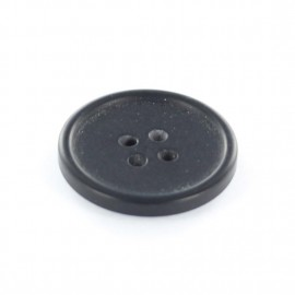 Metal button, wood aspect - black