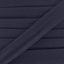 Bias binding, Jersey - navy