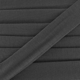Bias binding, Jersey - black