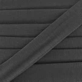 Bias binding, Jersey - black