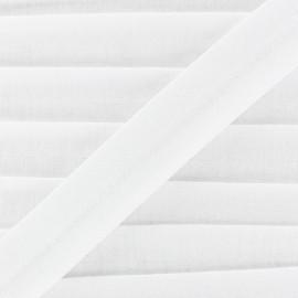 Bias binding, jersey - white