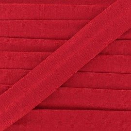 Bias binding, Jersey - carmine red