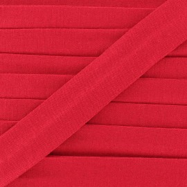 Bias binding, Jersey - red