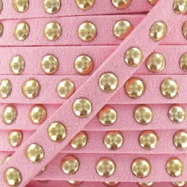 Imitation suede Studded - Pink