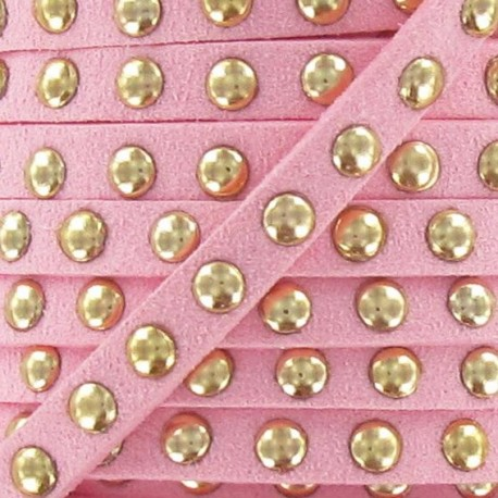 Imitation suede Studded - Pink