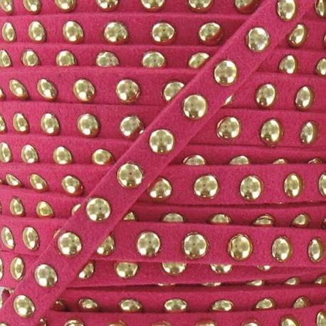 Imitation suede Studded - Fuchsia