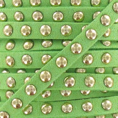 Imitation suede Studded - Lime