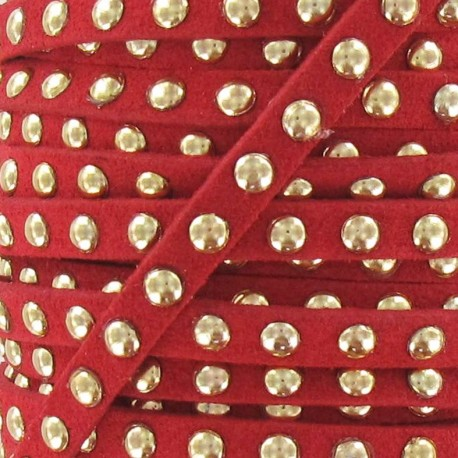Imitation suede Studded - Red