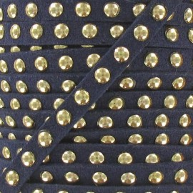Imitation suede Studded - Navy
