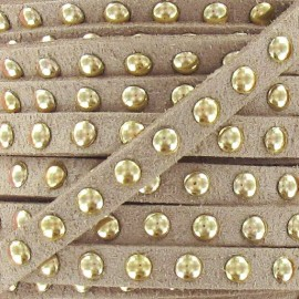 Imitation suede Studded - Light Brown