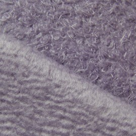 Tissu Pilou mauve x10cm