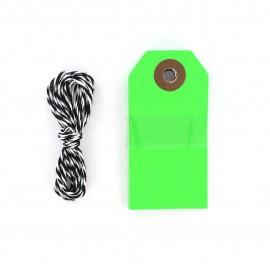 Etiquettes cadeaux vert fluo