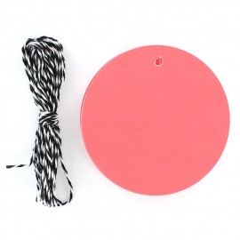 Gift tag, round-shaped - pink