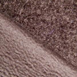 Tissu Pilou marron x10cm