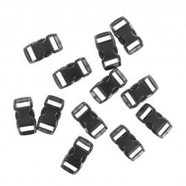 Fermetures paracorde noires 27 x 14 x 6 mm