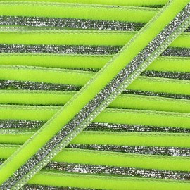 Lurex braid trimming, disco 10mm - fluorescent yellow