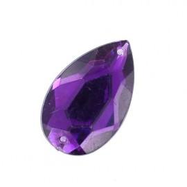 Strass goutte à coudre violet (à l'unité)