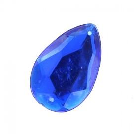Sew-on tear-shaped rhinestones x 1 - blue
