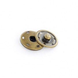 Metal Sew-on snap button - brass