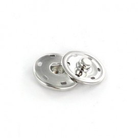 Metal Sew-on snap button - nickel-plated
