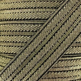 Lurex elastic x 50cm - golden