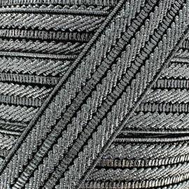 Elastique lurex argenté x 50cm