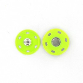 Pression métallique pistache fluo 20 mm