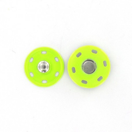 Metal Sew-on snap button 20 mm - fluorescent pistachio
