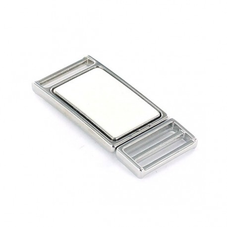 Metal buckle Dulath 20 x 55 mm - white nickel-plated