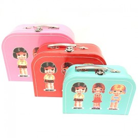 Boîtes gigogne en carton petites filles