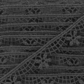 Guipure Fleurs Lily 15 mm noir