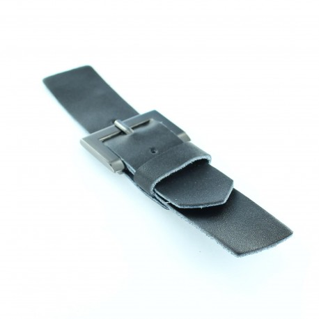 Leatherette clasp Elio x 150 mm - black