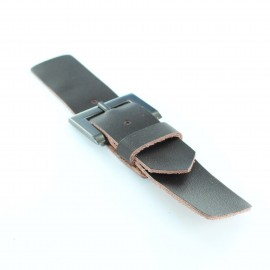 Leatherette clasp Elio x 150 mm - brown