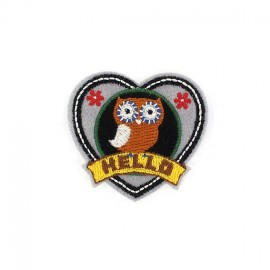 Thermocollant Badge Hibou Hello