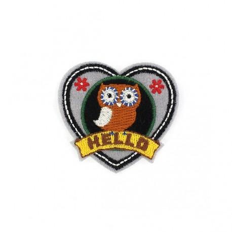 Thermocollant Badge Hibou Mini Owl