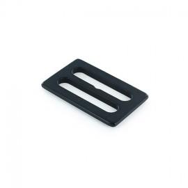 Boucle coulisse plastique opaque Noir