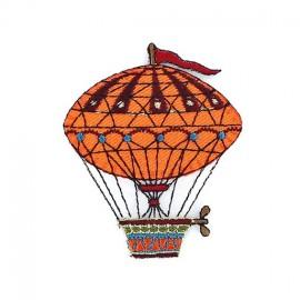 Hot-air ballon iron-on applique - orange