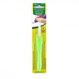 Amour crochet hook 6,5 mm - green