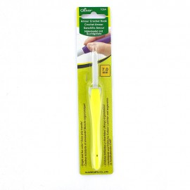 Amour crochet hook 7 mm - yellow